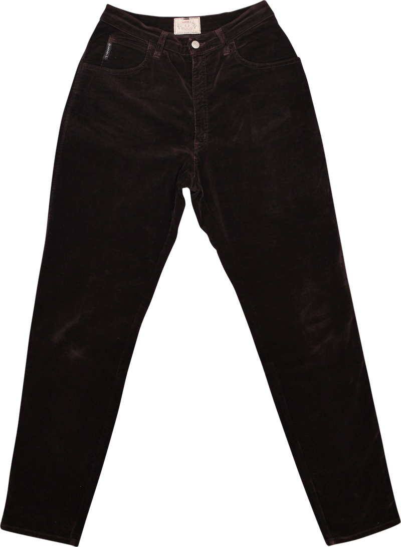 Brown Velvet Trousers by Armani Jeans