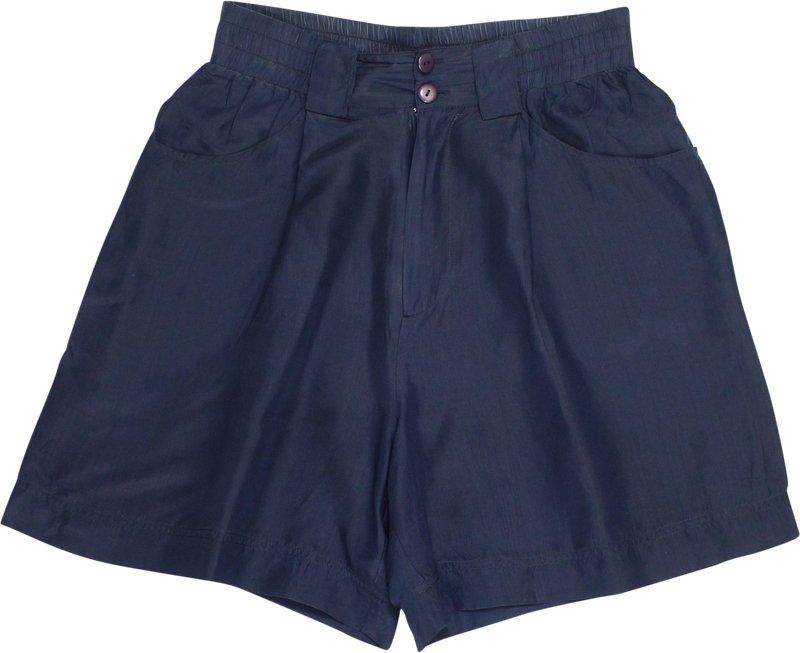 Blue Silk Shorts by Stefanel
