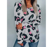 Load image into Gallery viewer, Pink Leopard Off the shoulder