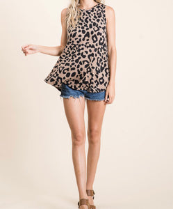 Leopard sleeveless tank
