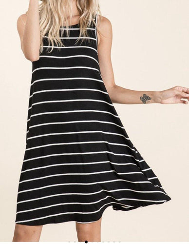 Black/White Striped Dress - Dreambox Boutique LLC