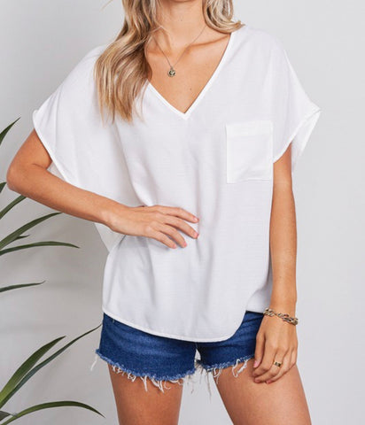 Loose Casual V-neck top