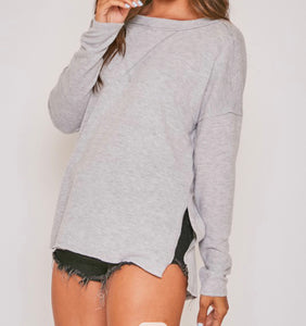 Solid knit with slit slide