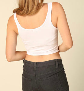 Juniors Crop Top-Ribbed