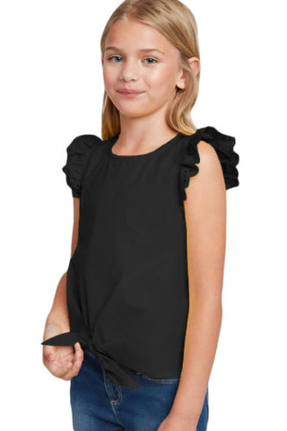 Black eyelet top/kids