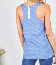 Load image into Gallery viewer, Chambray Top with Zipper Back