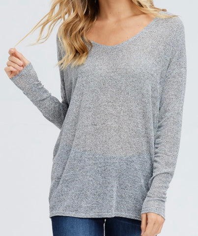 Melange Dolman Sleeve Top
