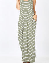 Load image into Gallery viewer, Stripe Cami Dress with Pockets