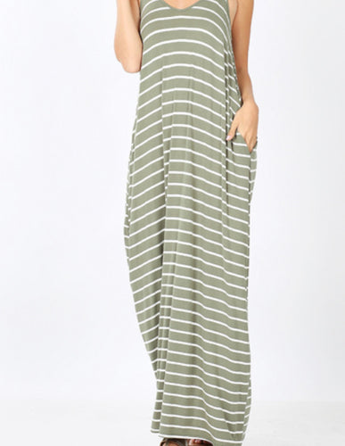 Stripe Cami Dress with Pockets
