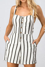 Load image into Gallery viewer, Striped Romper