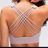 Presley Sports Bra w/Criss Cross Back