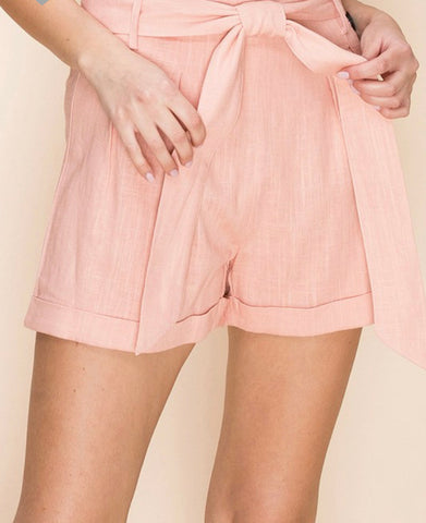Paperbag Shorts with 3 buttons