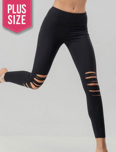 Knee cut out leggings