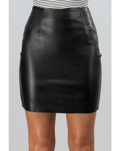 Black leather Skirt - Dreambox Boutique LLC