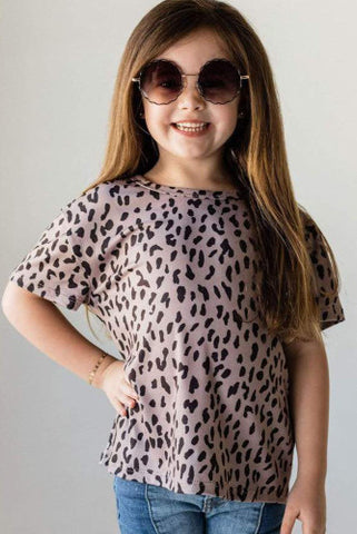 Kids Pink with black Leopard Top