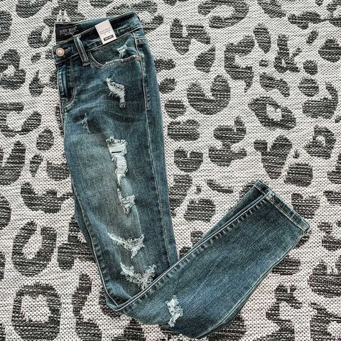 Destroyed Skinny Jeans - Dark ST