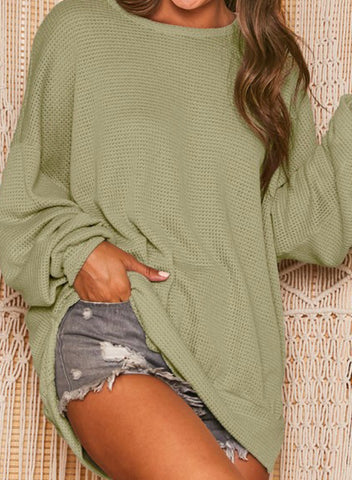 Open Waffle Knit Top