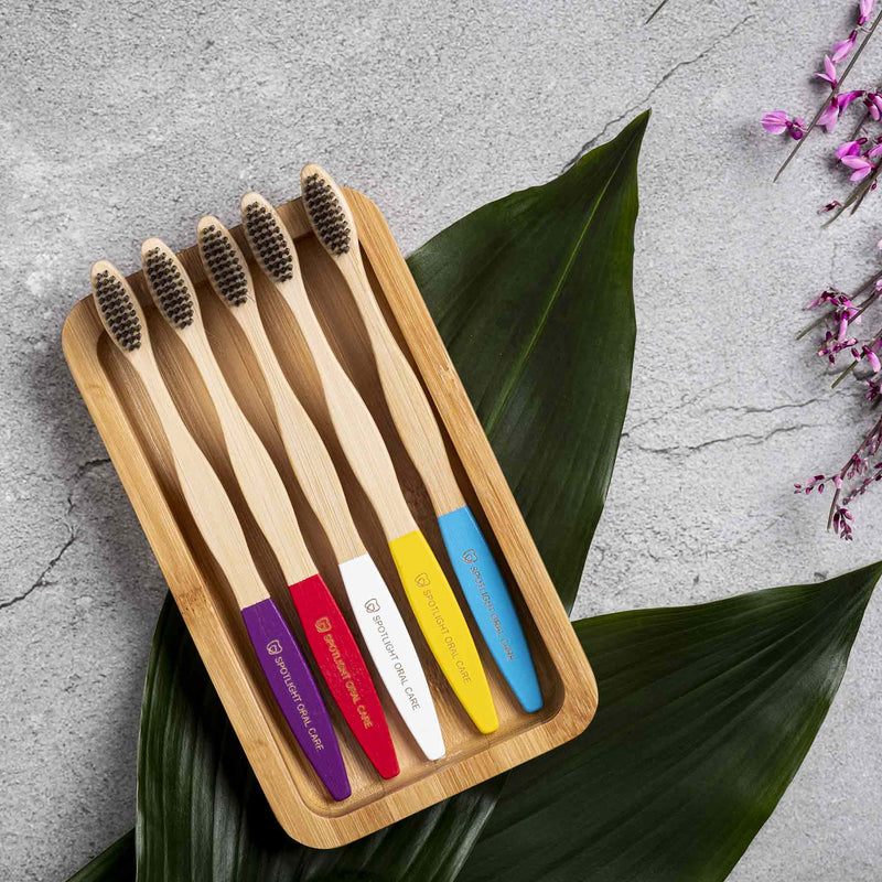 5-Pack Bamboo Toothbrushes