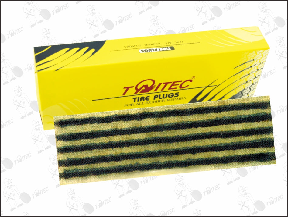 TAITEC RUBBER REPAIR STRING 6mm x 200mm Tyre Seal Black (30pcs)