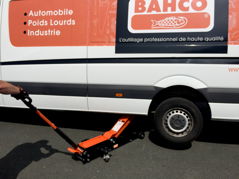 BAHCO BH13000L 3T Long Body Extra High Elevation Trolley Jack