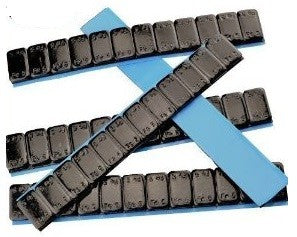 Black Adhesive Weights 12 x 5g (100 STRIPS)