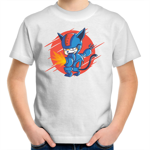 Cyborg Cat - Kids Youth T-Shirt