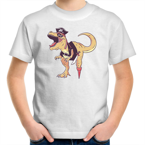 Dino Pirate - Kids Youth T-Shirt