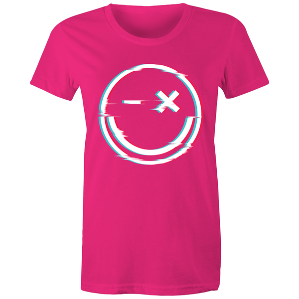 Glitchy Smile - Womens T-shirt