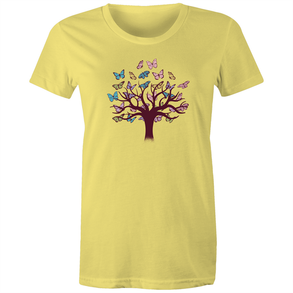 Tree of Butterflies - Womens T-shirt