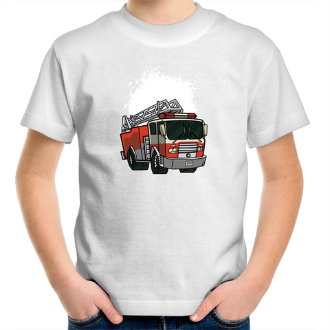Fire Truck - Kids Youth T-Shirt