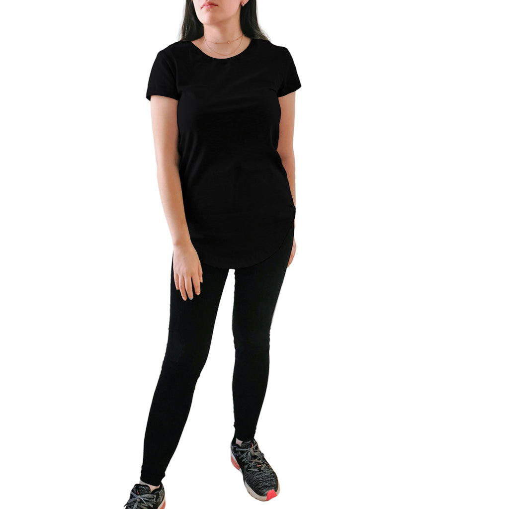 Blusa Long Fit Swag Dama Negra