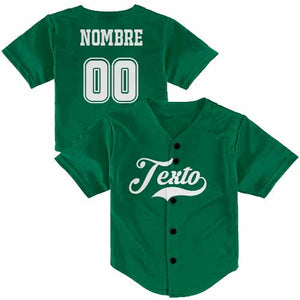 Jersey Béisbol Color Liso Personalizable KIDS