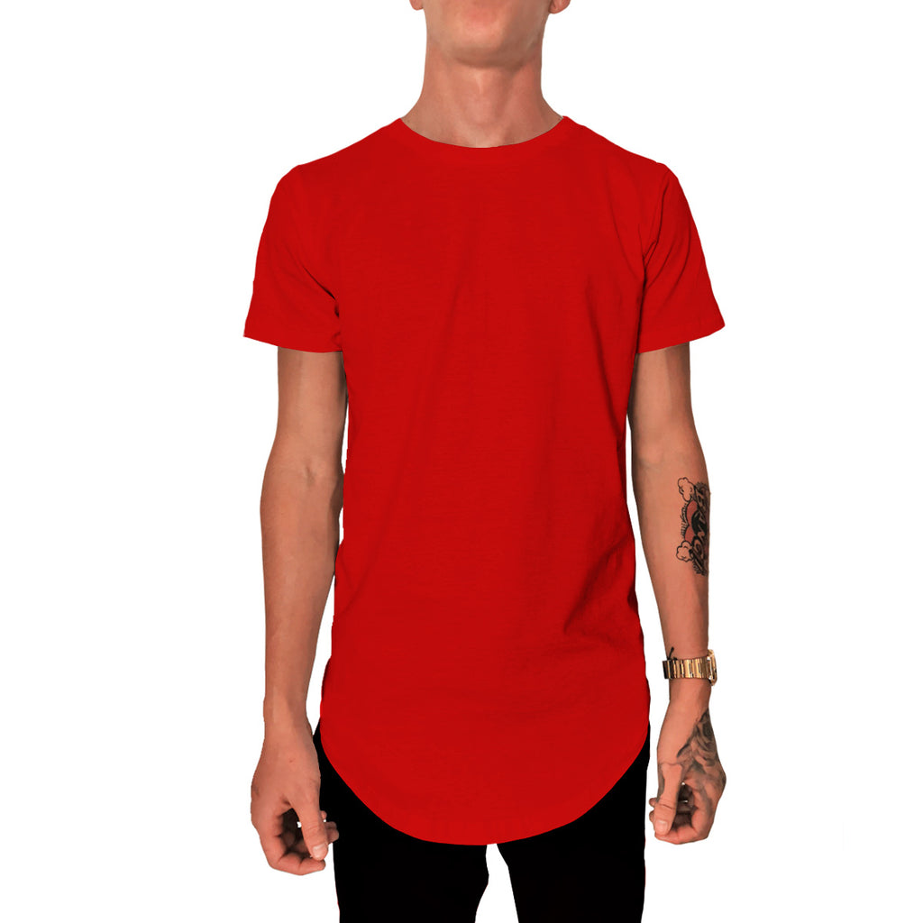 Playera Long Fit Swag Curva Colores Sólidos