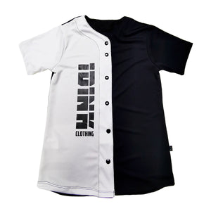 jersey camisola beisbol para mujer blanco negro personalizable