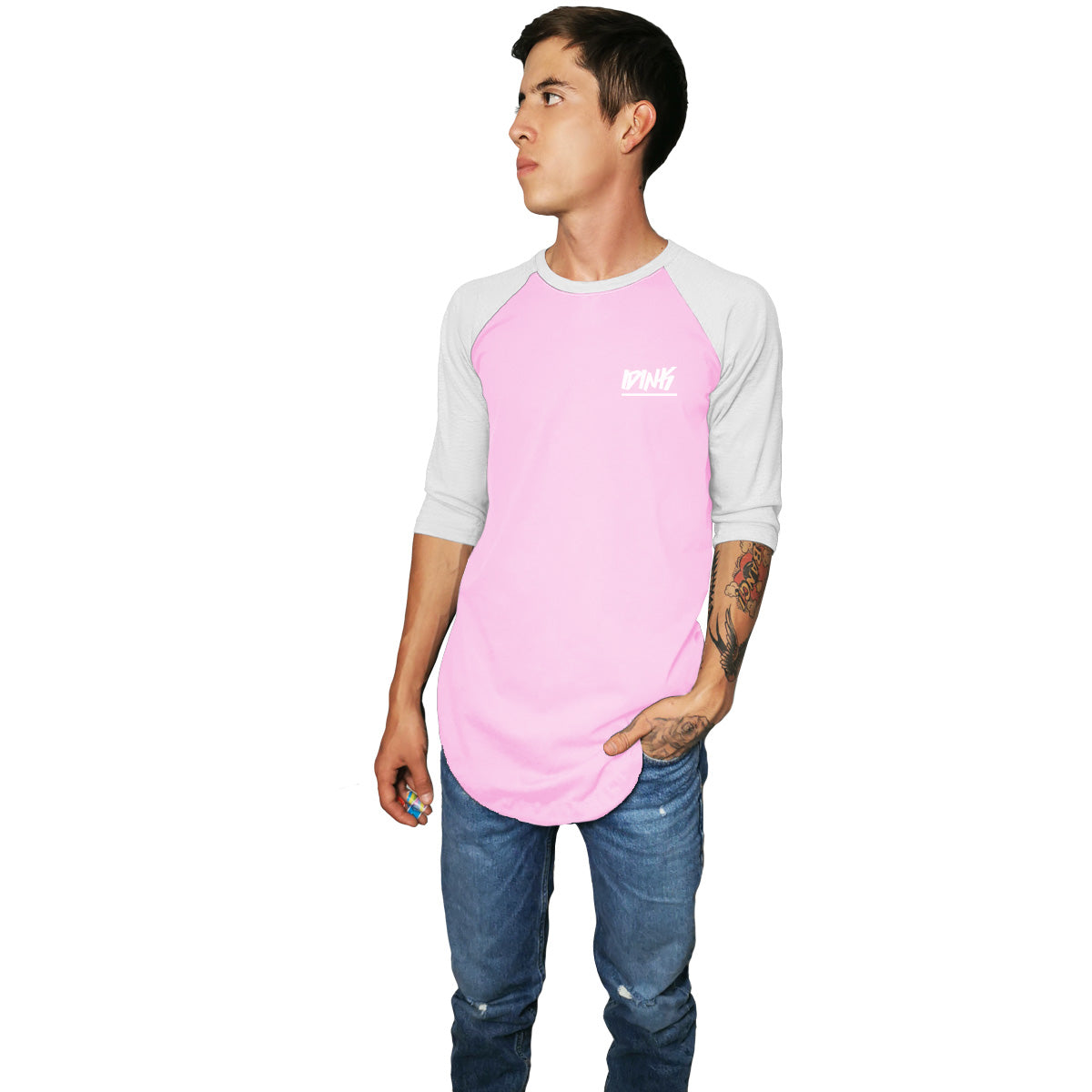 Playera Raglan Long Fit IDINK Rosa
