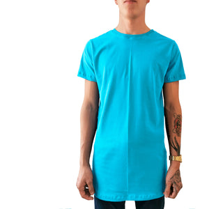 Playera Long Fit Swag Recta Colores Sólidos