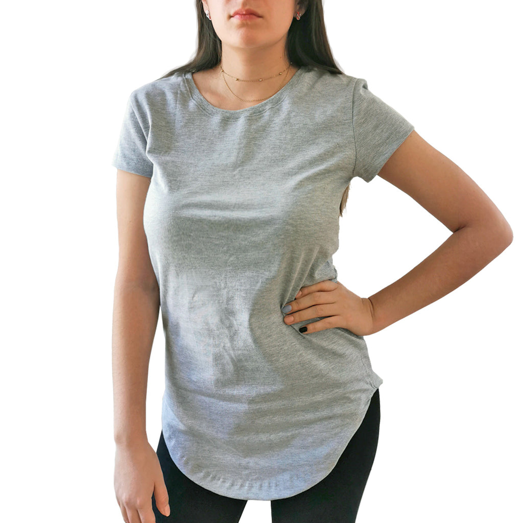 Blusa Long Fit Swag Dama Gris Jaspe