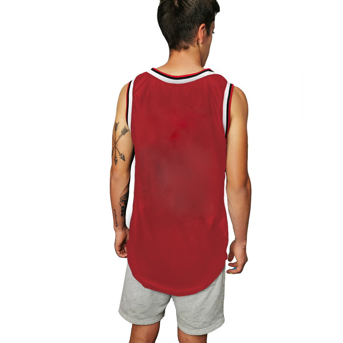 Jersey básquetbol long RED