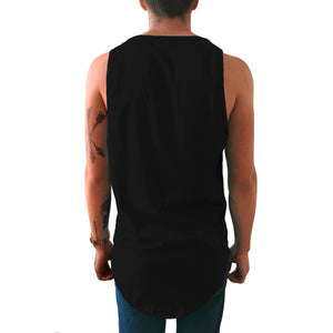 Tank top Long fit Idink Blanca y Negra