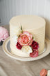 Textured Buttercream with Cascading Flowers