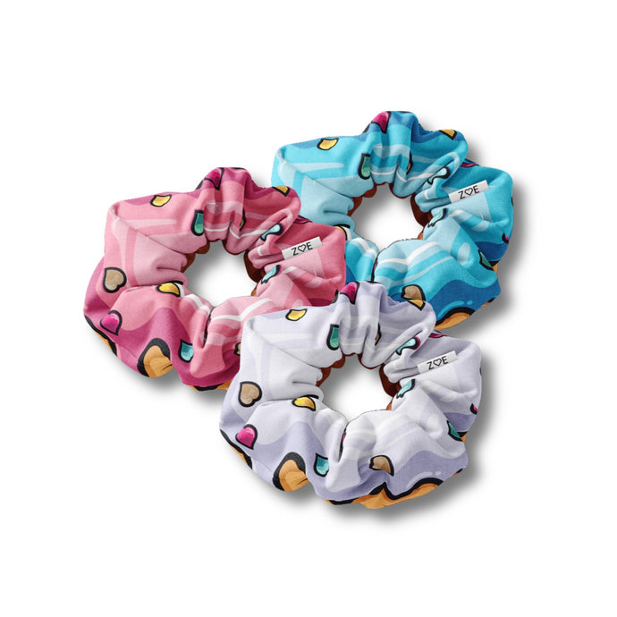 Zoe's Donut Scrunchies (3-Pack)