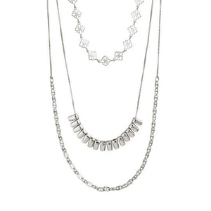 Silver Joy Layered Necklace