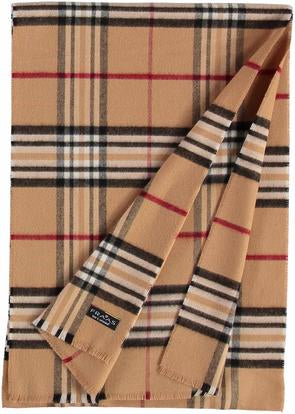 V Fraas Plaid Scarf