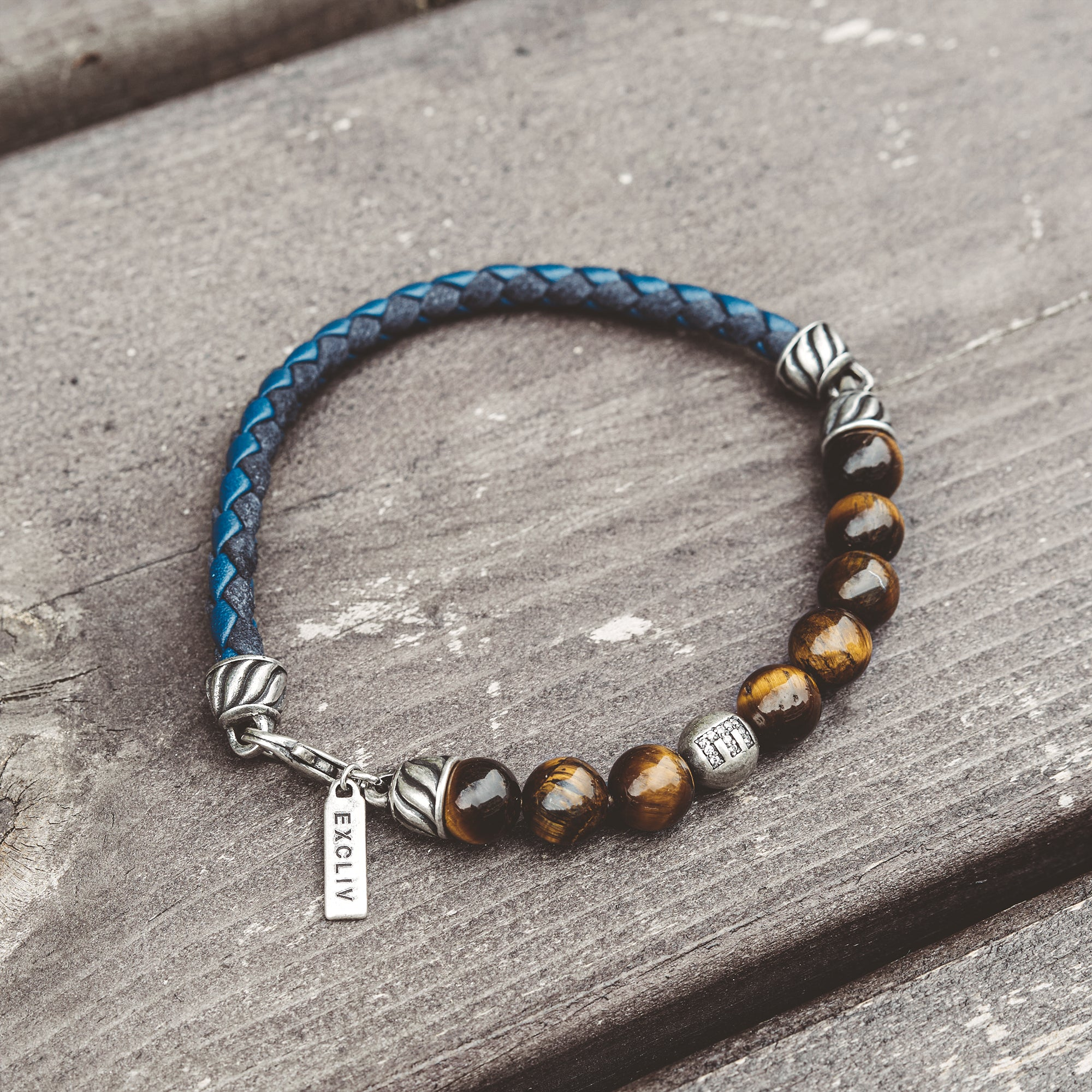 BENGAL | Silver Bracelet with Tiger Eye Beads