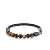 Silver Bracelet with Tiger Eye Beads