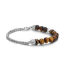 Woven Chain Bracelet with Tiger Eye Beads