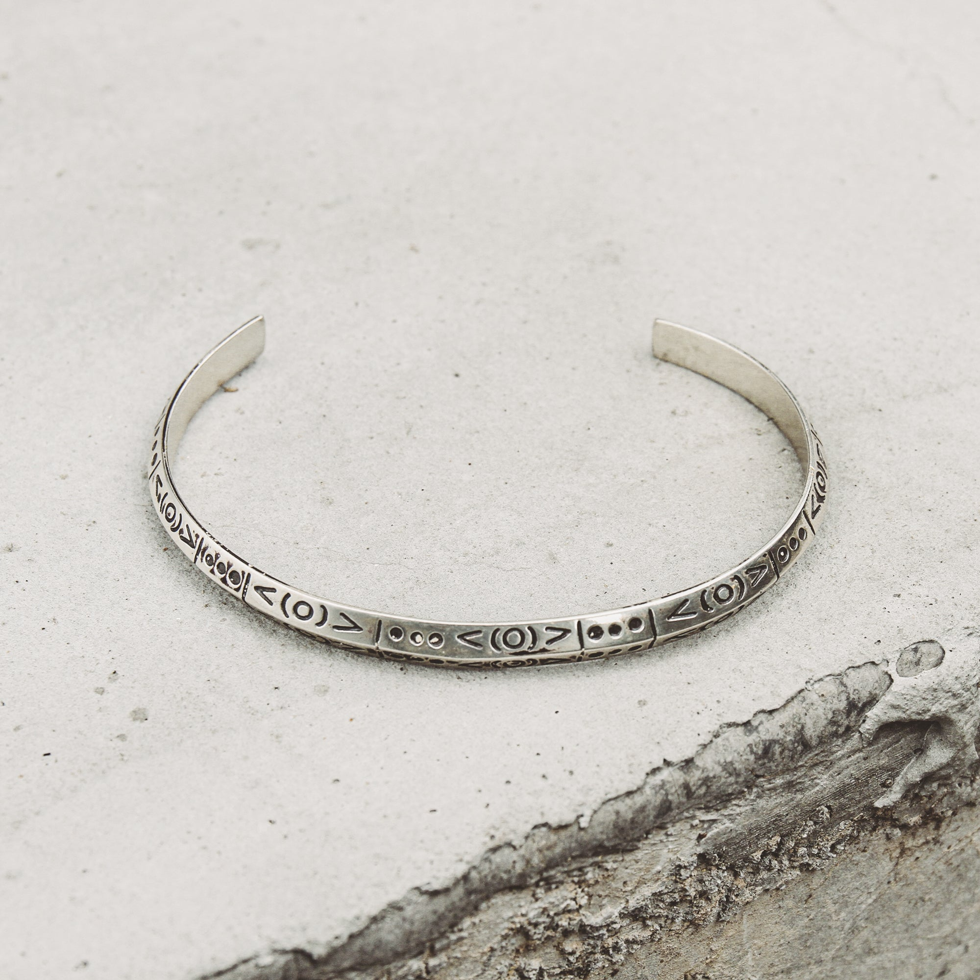 SPIRIT | Cuff Narrow Cuff Bracelet with Symbols