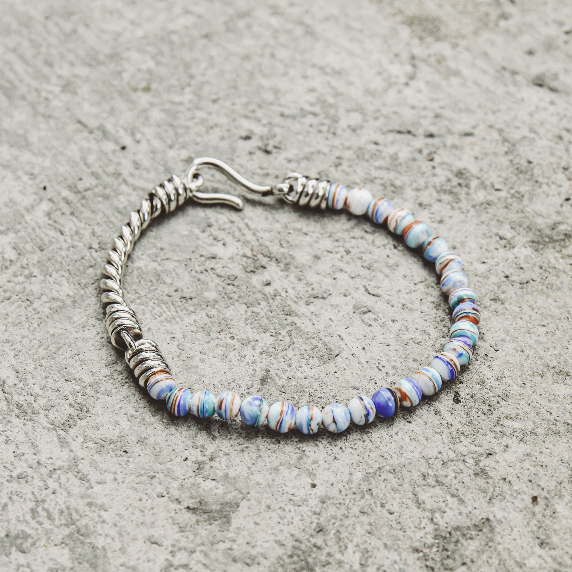 SEAGLASS | Multi-Color Murano Glass Bead Bracelet with Rope Detail