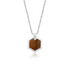 Hexagonal Tiger Eye Pendant Necklace