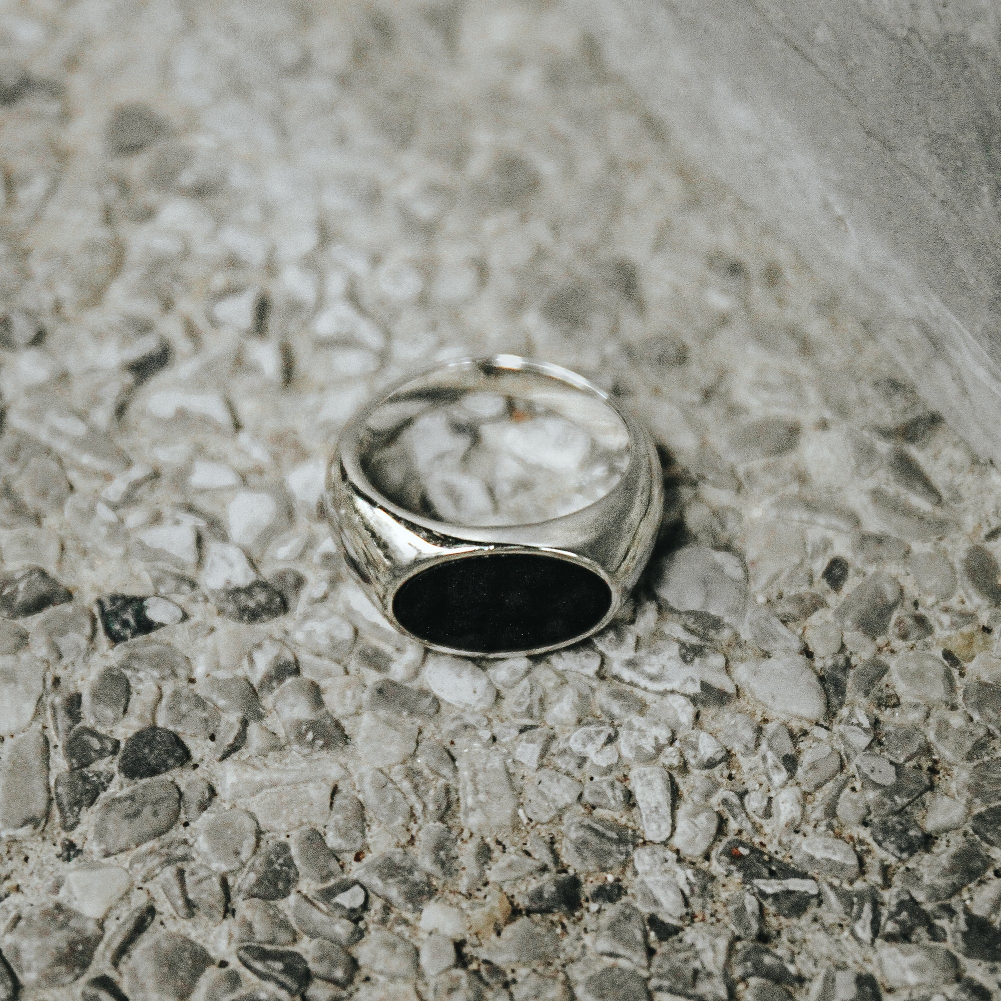 DAVID | Oval Agate Ring